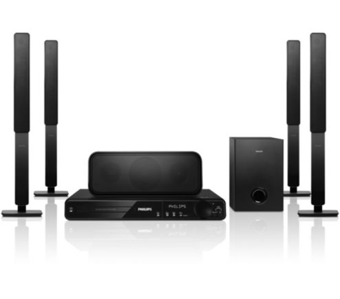 dvd home theater system hts3378 98 philips. Black Bedroom Furniture Sets. Home Design Ideas
