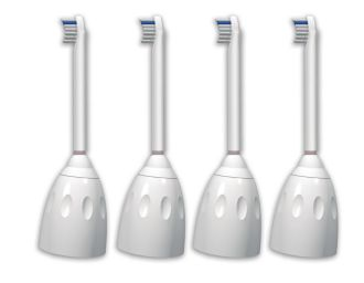 Philips  Compact sonic toothbrush heads 4-pack HX7004/12