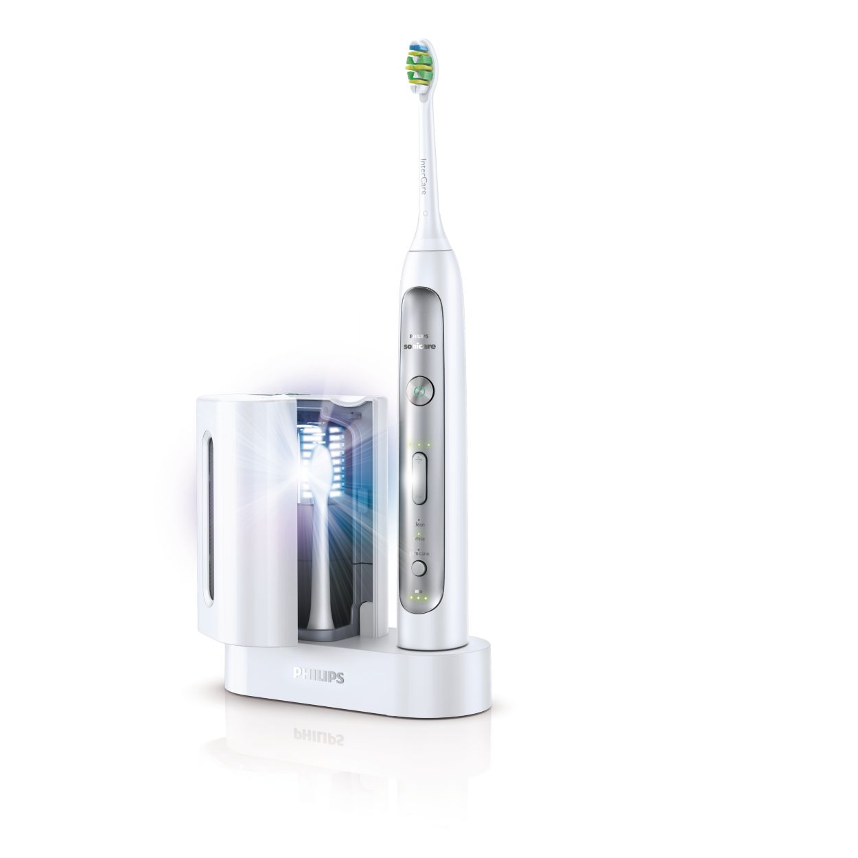 31, brush strokes per minute makes you want to smile, doesn't it? The Sonicare FlexCare+ offers a high-frequency clean that, when used as directed, can help reduce plaque more effectively than manual brushing after four weeks.
