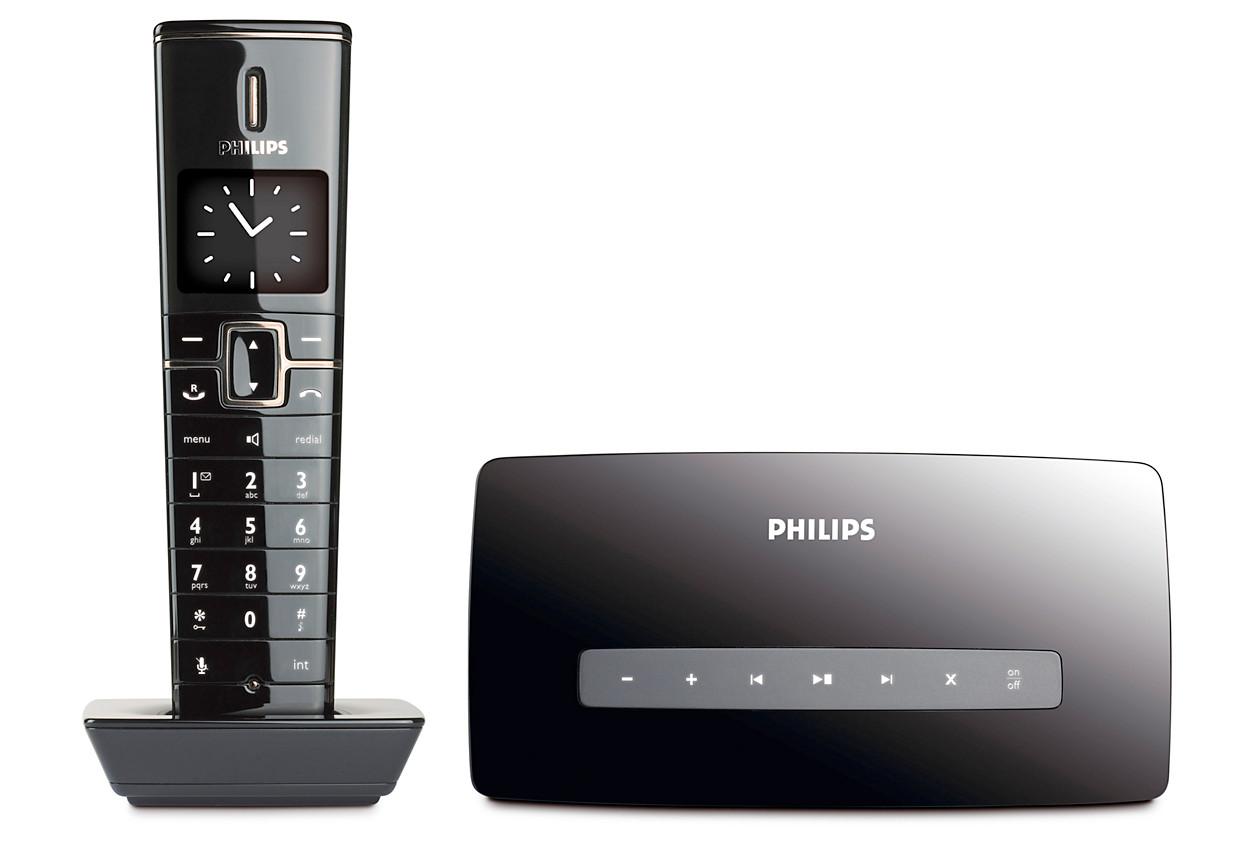 acheter le philips design collection t l phone fixe sans. Black Bedroom Furniture Sets. Home Design Ideas