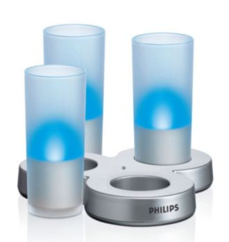 Philips  LED candle White frosted glass LAA61ABWC