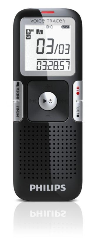 Philips  digital inspelningsenhet Mikrofon med lågt brus LFH0642/00