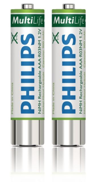 Philips  Rechargeable batteries AAA LFH9154/00