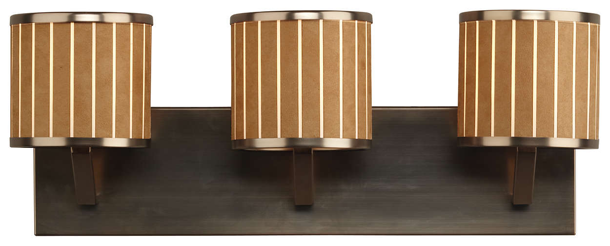 Haberdasher 3-light Bath in Oiled Bronze finish