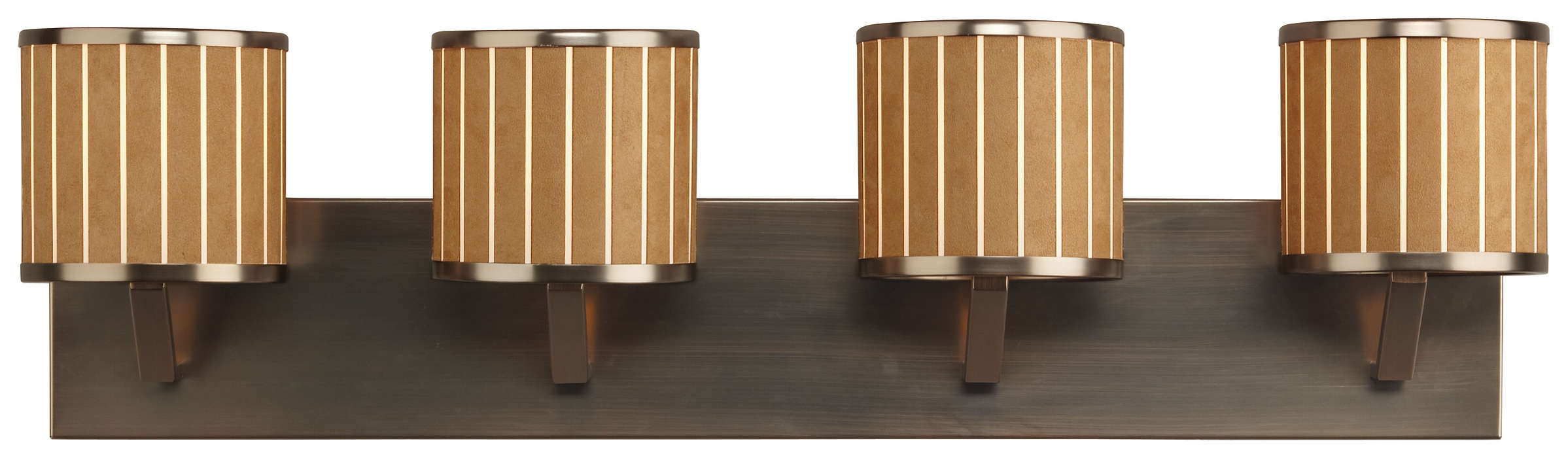 Haberdasher 4-light Bath in Oiled Bronze finish