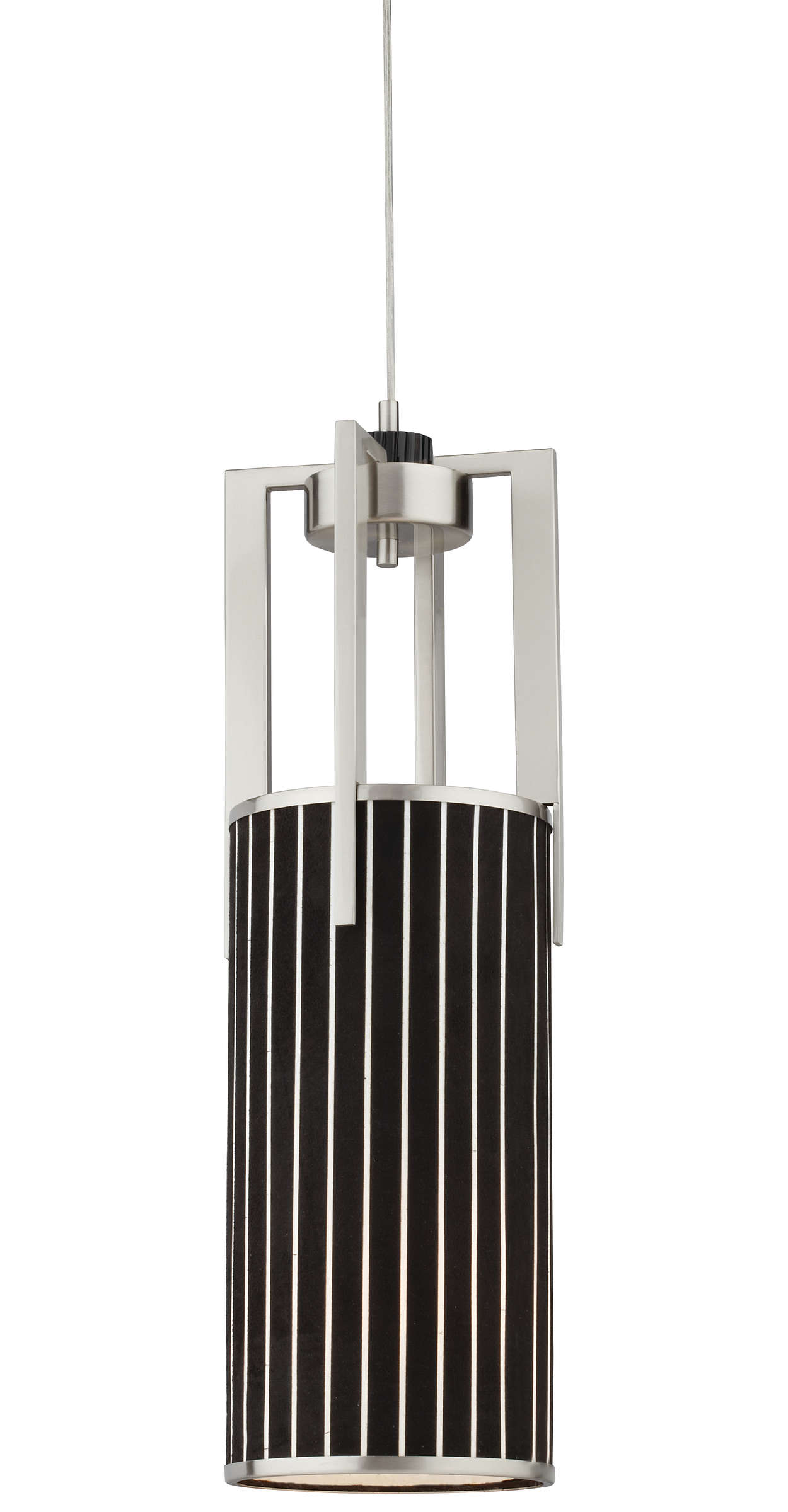 Haberdasher 1-light Pendant, Brushed Nickel finish