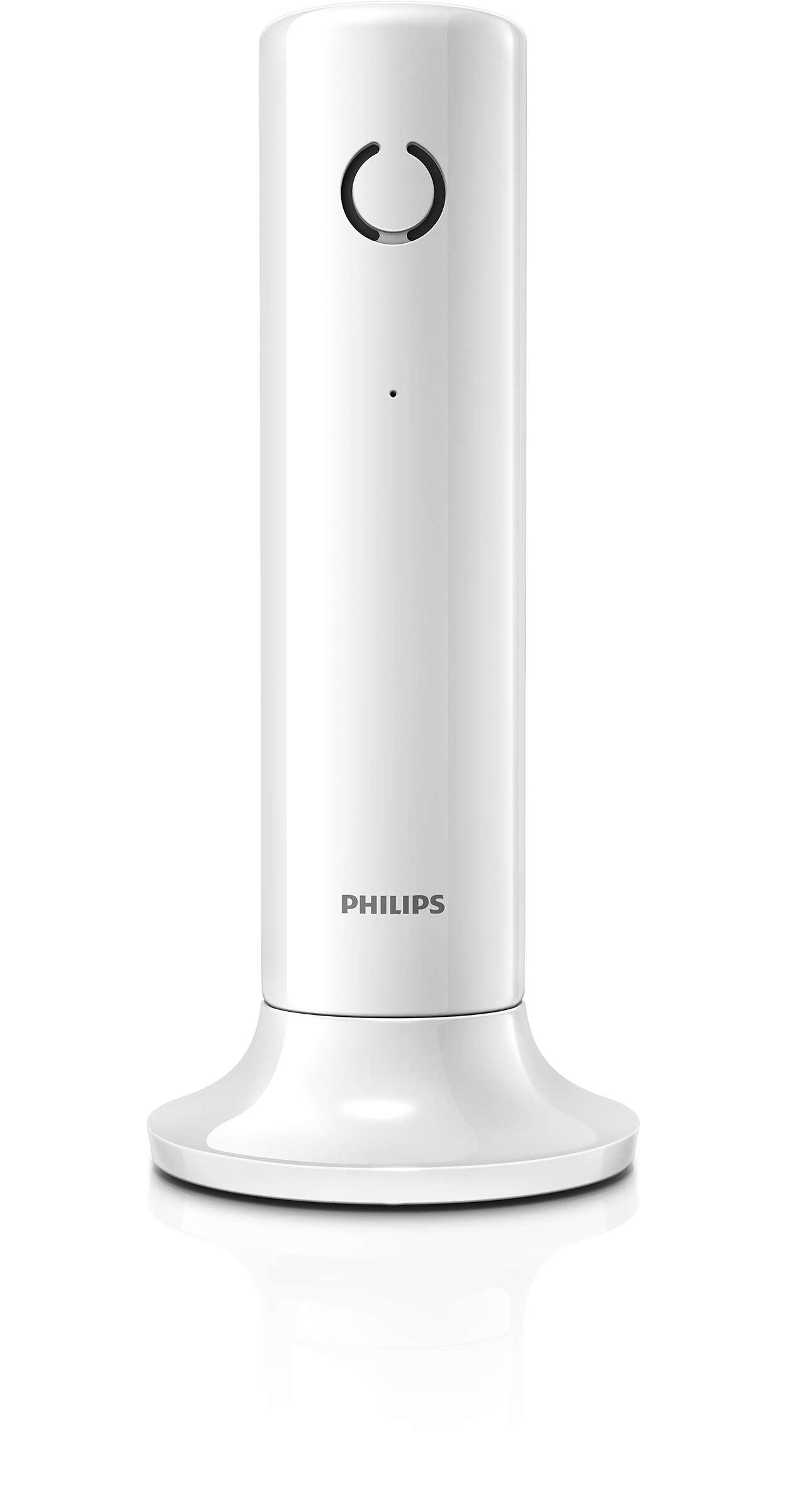 T l phone fixe sans fil design linea m3301w fr philips - Cordless di design ...