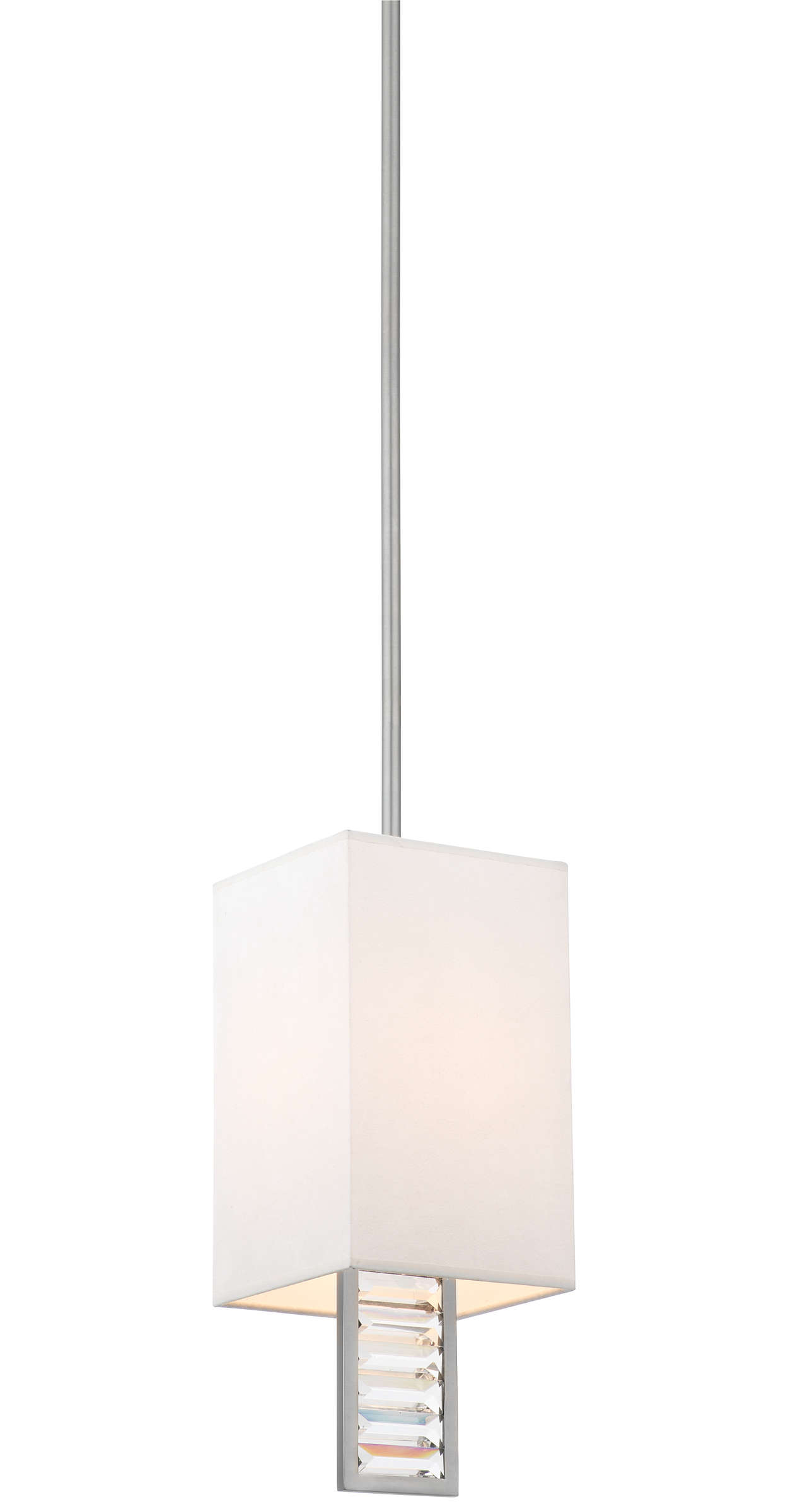 Zsa Zsa 1-light Pendant in Brushed Nickel finish