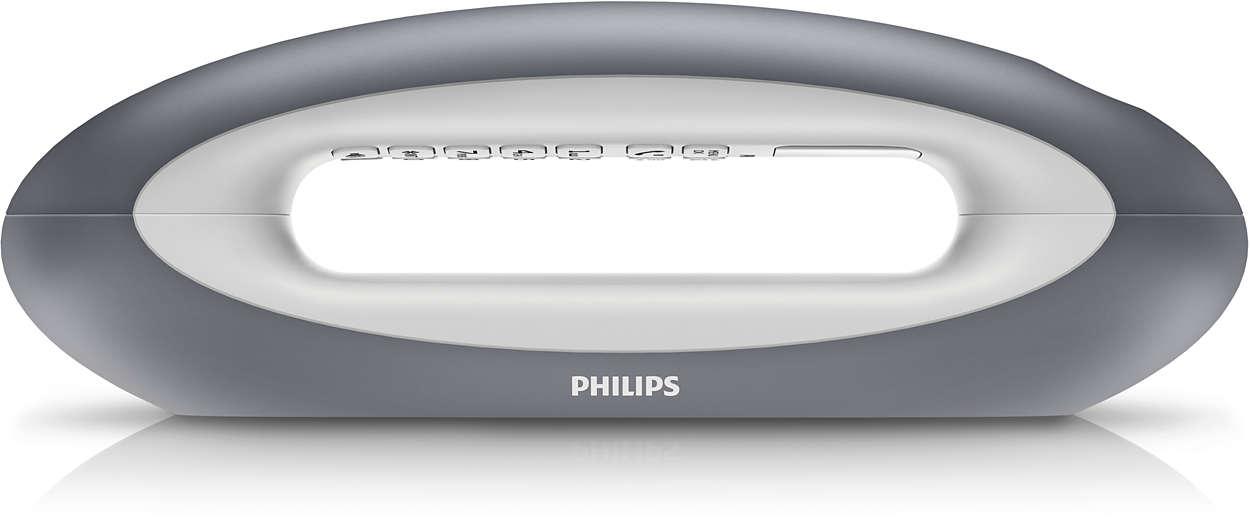 t l phone fixe sans fil design mira m5501gw 38 philips. Black Bedroom Furniture Sets. Home Design Ideas