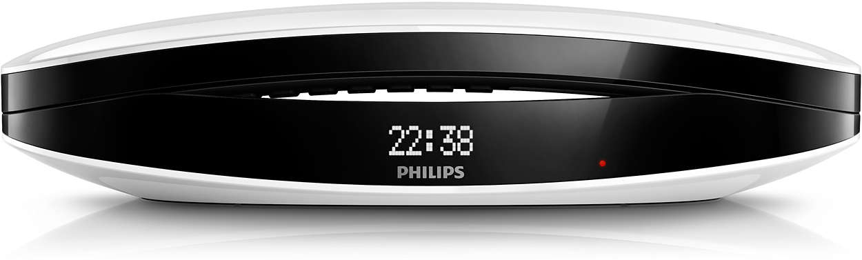t l phone fixe sans fil design luceo m6651wb fr philips. Black Bedroom Furniture Sets. Home Design Ideas