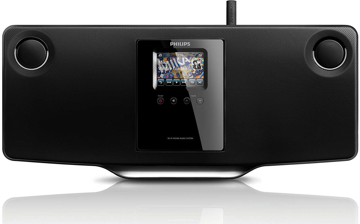 microcha ne hi fi sans fil mci298 12 philips. Black Bedroom Furniture Sets. Home Design Ideas