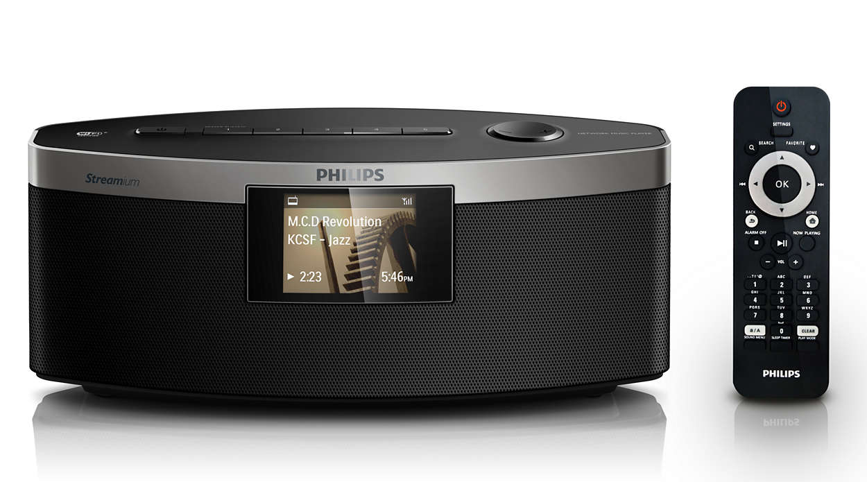 kabelloser musik player np3300 12 philips. Black Bedroom Furniture Sets. Home Design Ideas