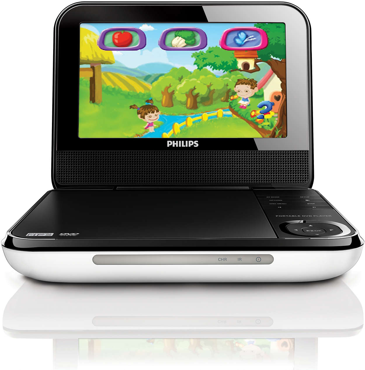 portable dvd player pd703 37 philips. Black Bedroom Furniture Sets. Home Design Ideas