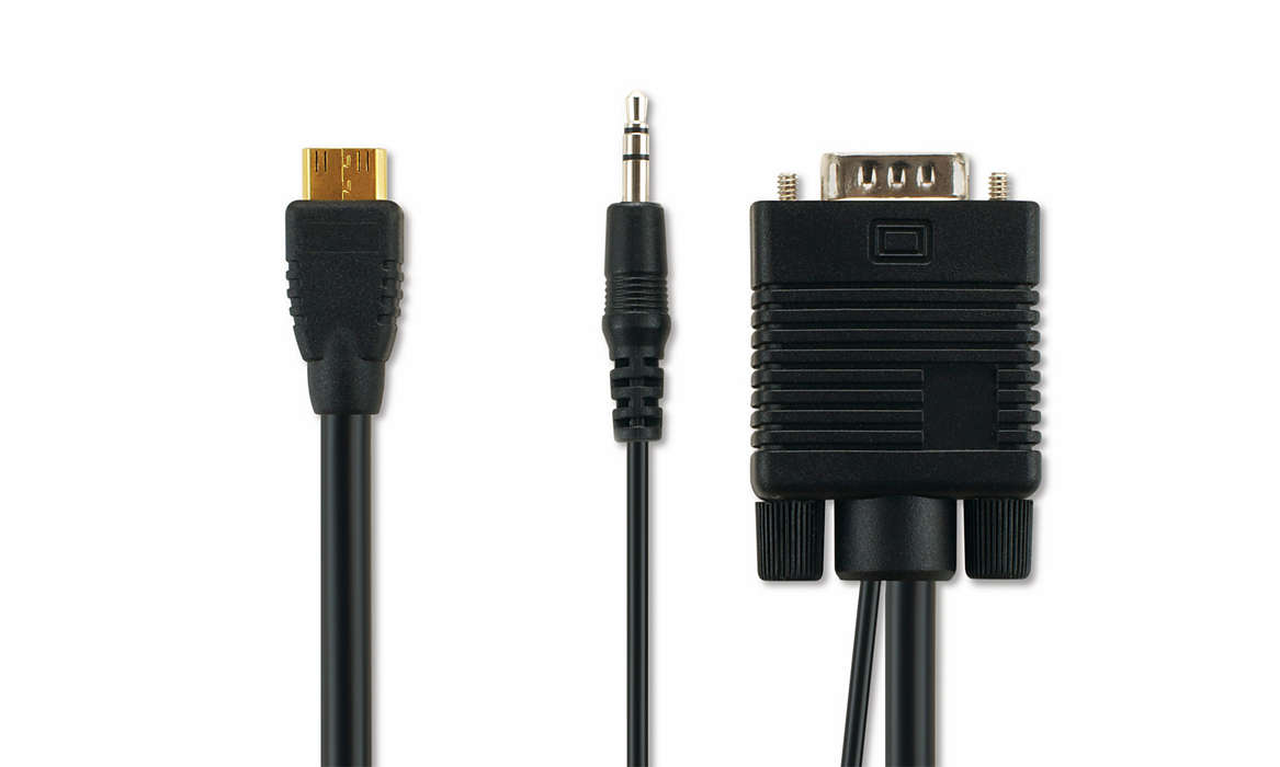 VGA cable for PC connection