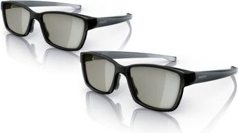 Glasögon för spel på helskärm för två spelare