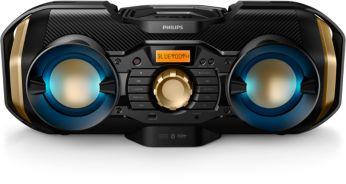 """""""Bluetooth"""", 50 W, dinaminis apšvietimas, CD grotuvas"""