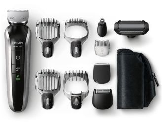 Philips  waterproof grooming kit FACE, HAIR Beard, head & detail hair QG3380/16