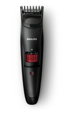 Philips BEARDTRIMMER Series 3000 beard and stubble trimmer QT4005/15 0.5mm precision settings Stainless steel blades 10h charge/45mins cordless use