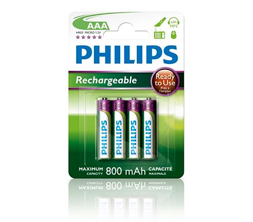 multilife pile rechargeable r03b4rtu8 10 philips. Black Bedroom Furniture Sets. Home Design Ideas