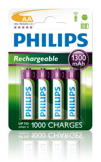 Philips  Rechargeable accu AA, 1300 mAh R6B4A130/27