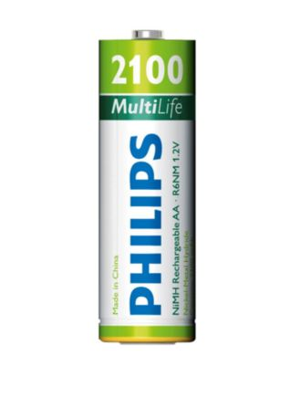 Philips  Rechargeable accu AA, 2100 mAh R6B4A210/27
