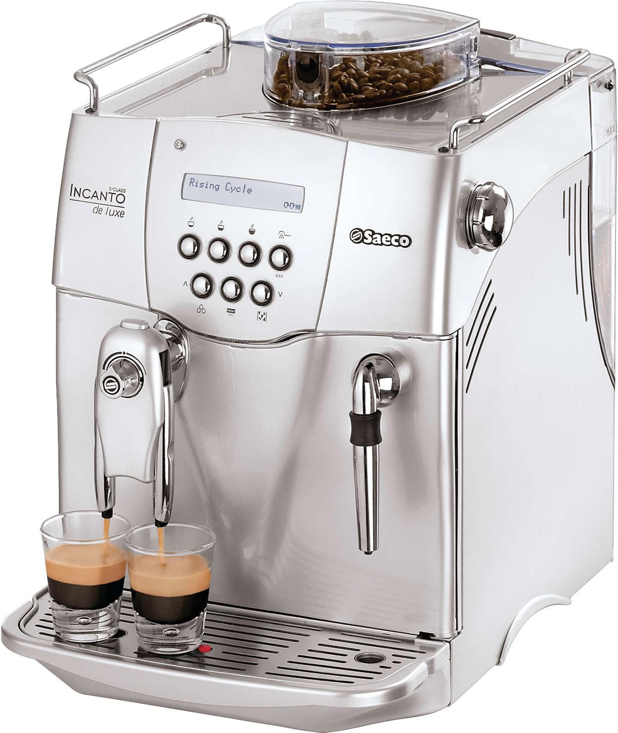 incanto super automatic espresso machine ri9724 47 saeco. Black Bedroom Furniture Sets. Home Design Ideas