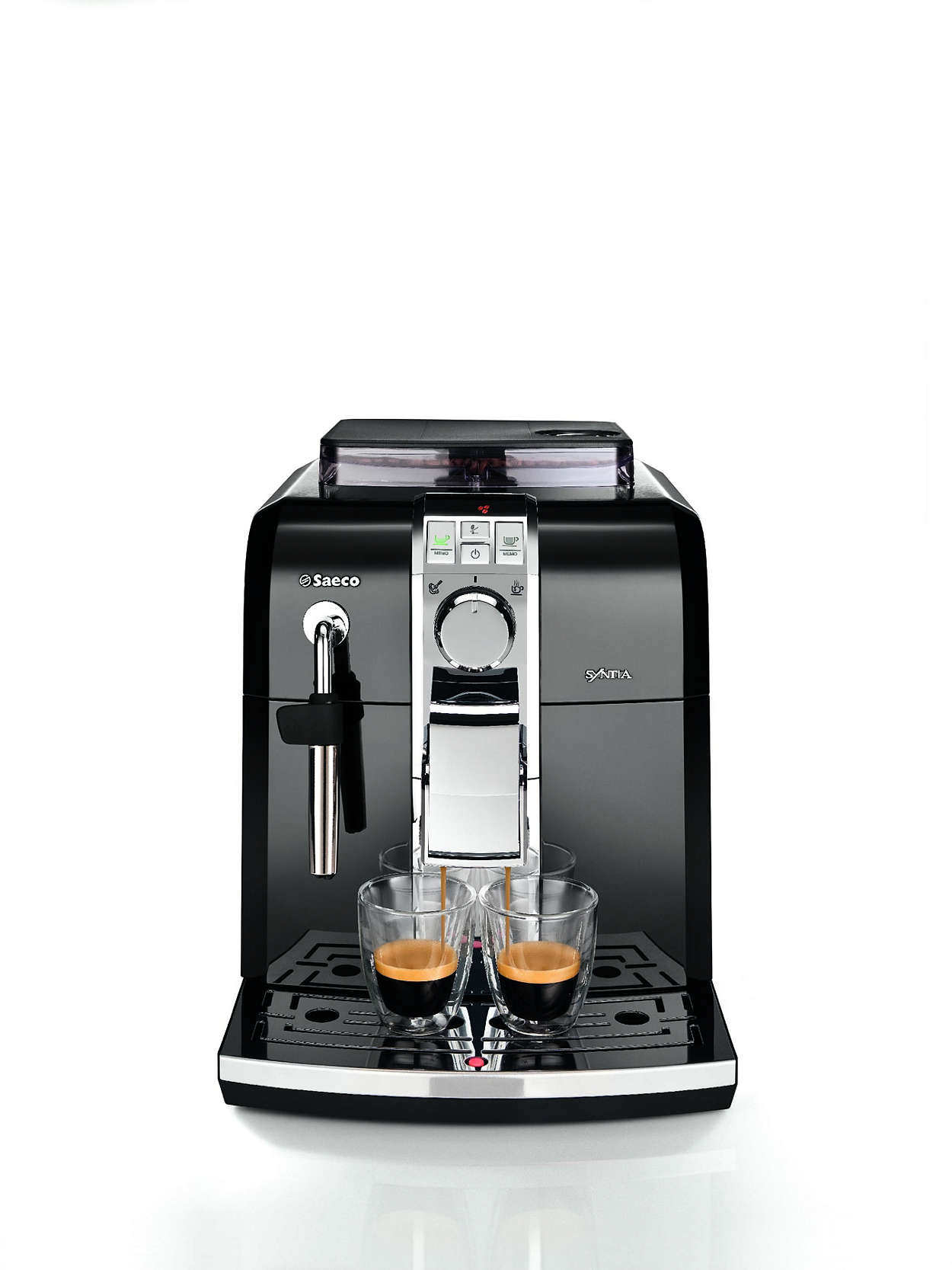 syntia super automatic espresso machine ri9833 47 saeco. Black Bedroom Furniture Sets. Home Design Ideas
