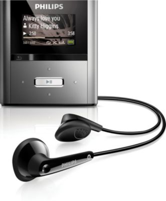 Philips GoGEAR MP3 player SA2RGA04KS RaGa 4GB* with FullSound™