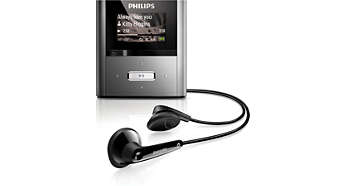 RaGa 4GB* MP3 player FullSound™