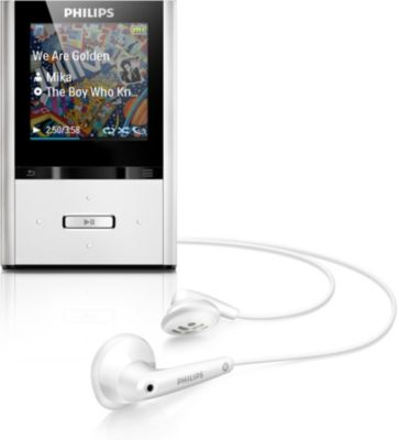 Philips GoGEAR MP4 player SA2VBE04SX ViBE 4 GB* com FullSound™