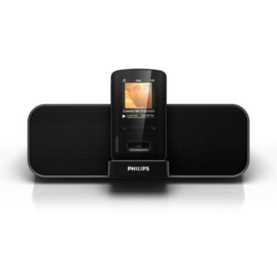 philips philips gogear mp4 player with docking speaker. Black Bedroom Furniture Sets. Home Design Ideas