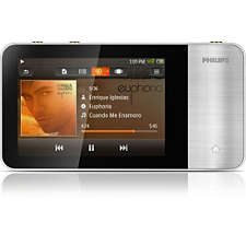 sa3mus08s 37 philips gogear mp4 player sa3mus08s muse 8gb. Black Bedroom Furniture Sets. Home Design Ideas