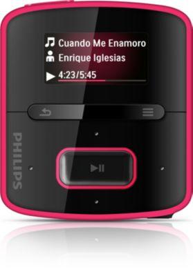 Philips GoGEAR MP3-speler SA3RGA02PN RaGa van 2 GB* met FullSound™