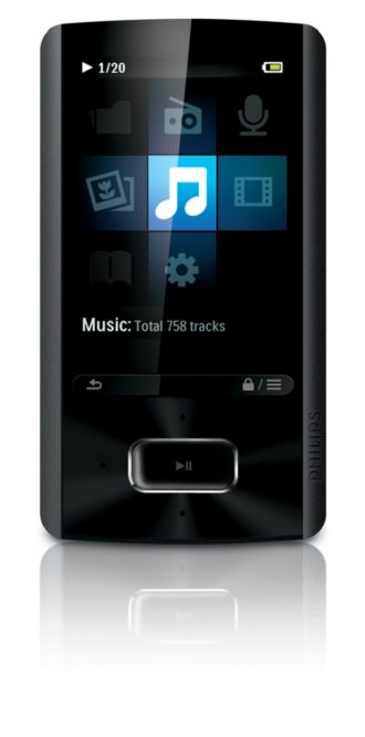 Philips GoGEAR MP3 video player Ariaz SA4ARA08KF/37