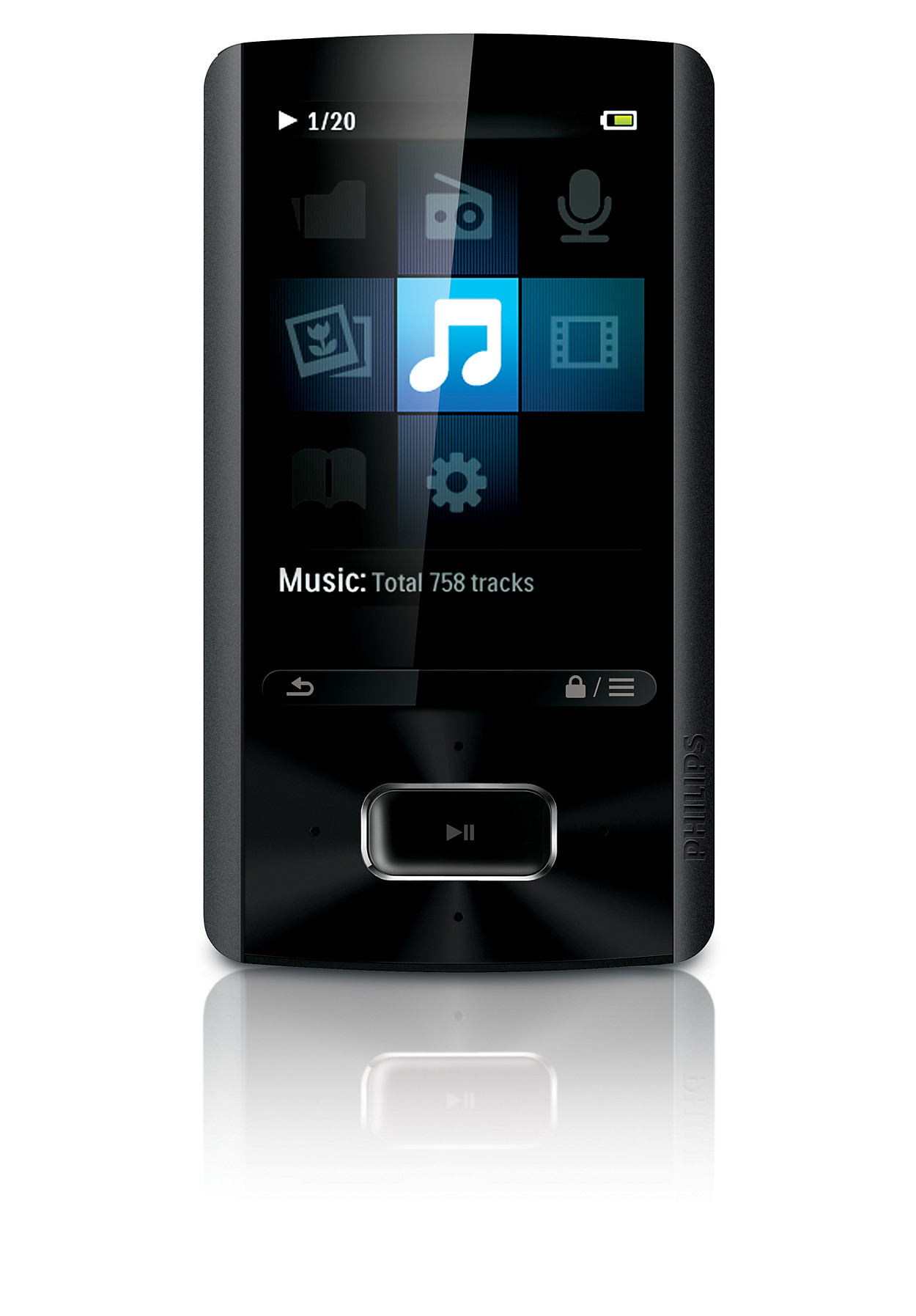 buy the philips mp4 player sa4ara08kf 97. Black Bedroom Furniture Sets. Home Design Ideas