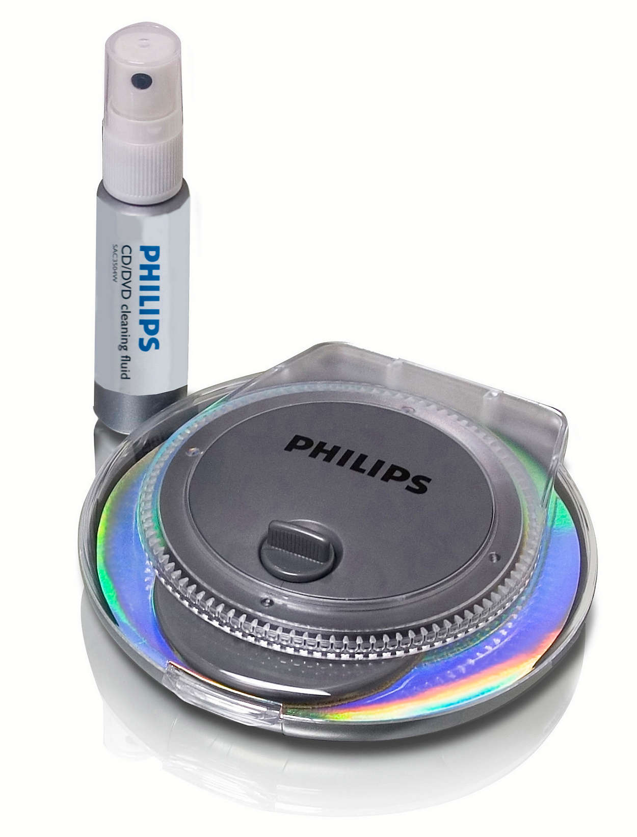 Radial CD/DVD cleaner