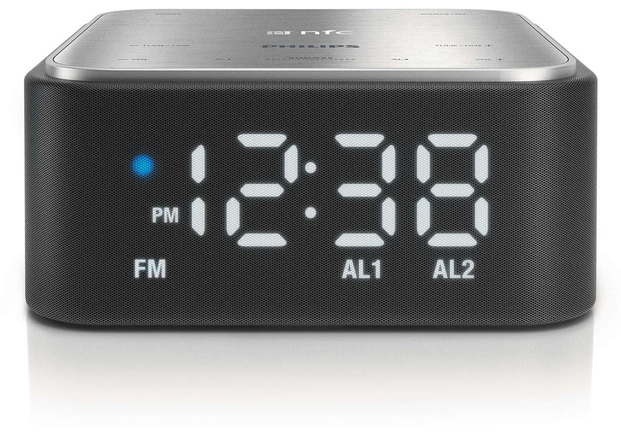bluetooth speaker with clock radio sb170 37 philips. Black Bedroom Furniture Sets. Home Design Ideas