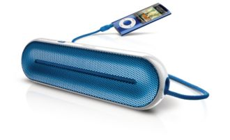 Philips  MP3 portable speaker Universal 3.5mm SBA1600BLU/27