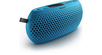 Blue USB Portable speaker