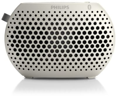 Philips wireless portable speaker SBT10WHI Bluetooth White