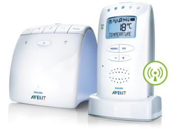 Temperature alert DECT baby monitor