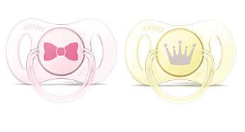 Ортодонтические пустышки Mini, без бисфенола-А, 0—2мес.
