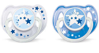 6-18m Orthodontic & BPA-Free Night Time Pacifiers