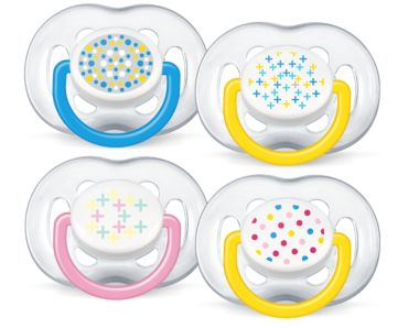 6-18m BPA-Free Contemporary Freeflow Pacifier