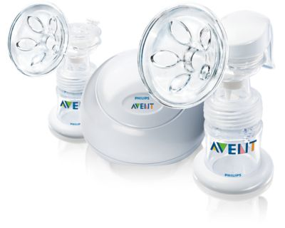 Philips AVENT Twin electronic breast pump SCF314/02 Includes 2x 4oz bottle