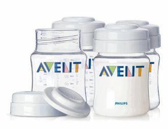 Philips  Frascos para leite materno da AVENT 4 x 125 ml SCF640/04