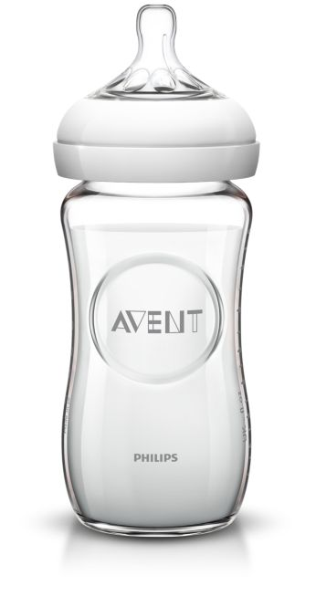 1стеклянная бутылочка 240мл, детская бутылочка серии Natural
