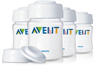 Philips  AVENT Breast Milk Containers 4ozx4 SCF680/04