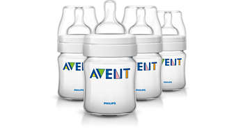 4 Classic bottles 4oz/125ml Baby bottle