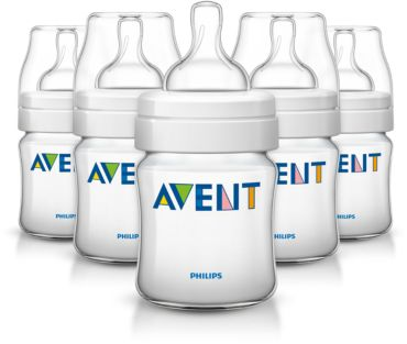 5 Classic 4oz/125ml Feeding bottle